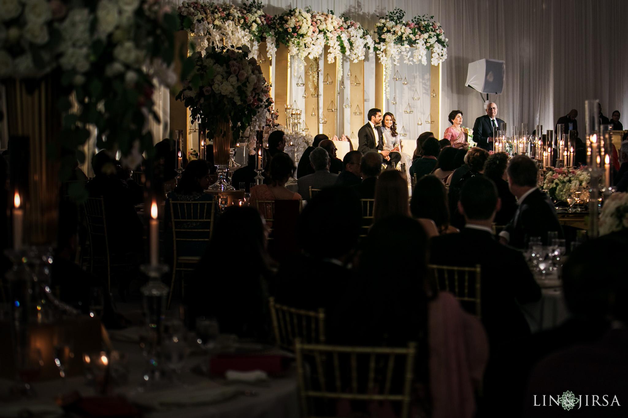 21 Hilton Santa Barbara Beachfront Resort Indian Wedding Reception Photography