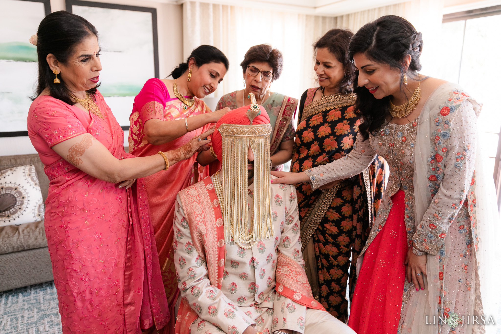 31 Hilton Santa Barbara Beachfront Resort Punjabi Groom Sehra Wedding Photography