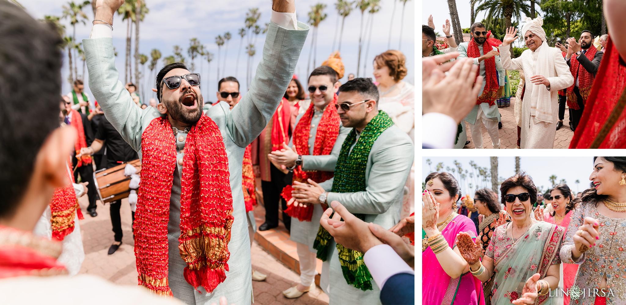33 Hilton Santa Barbara Beachfront Resort Indian Wedding Baraat Photography