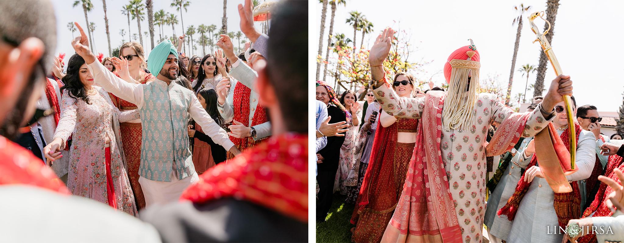 34 Hilton Santa Barbara Beachfront Resort Indian Wedding Baraat Photography