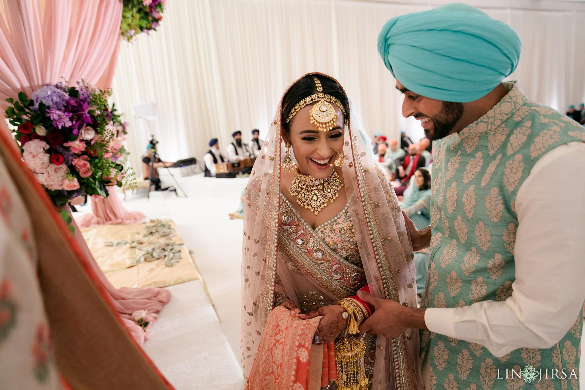 39 Hilton Santa Barbara Beachfront Resort Sikh Wedding Ceremony Photography