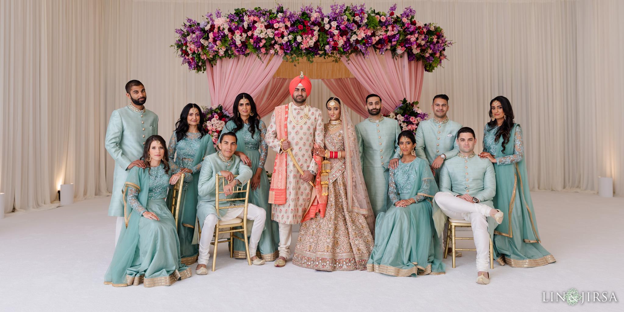 42 Hilton Santa Barbara Beachfront Resort Punjabi Indian Wedding Party Photography