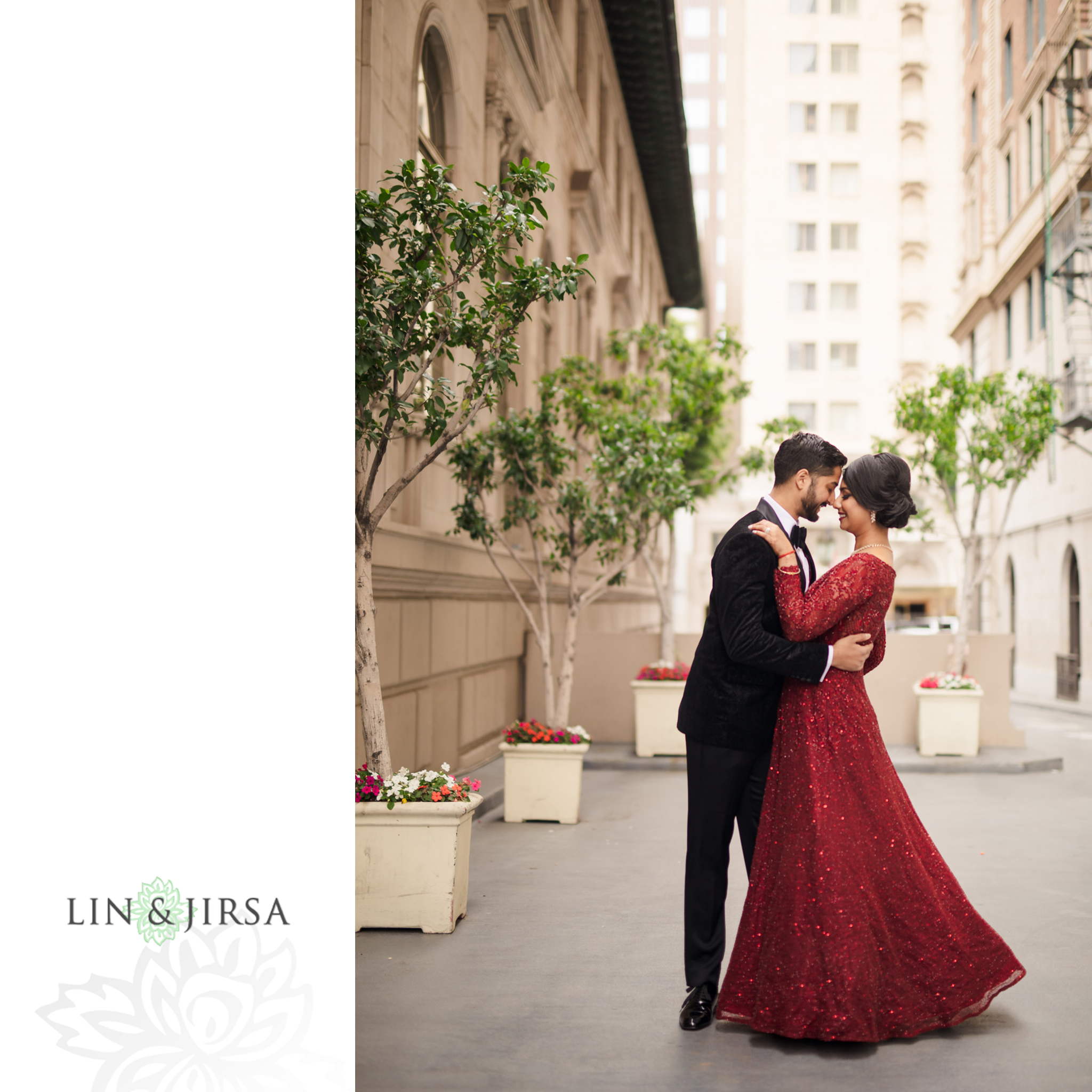 34 Millennium Biltmore Hotel Los Angeles Indian Wedding Reception Photography
