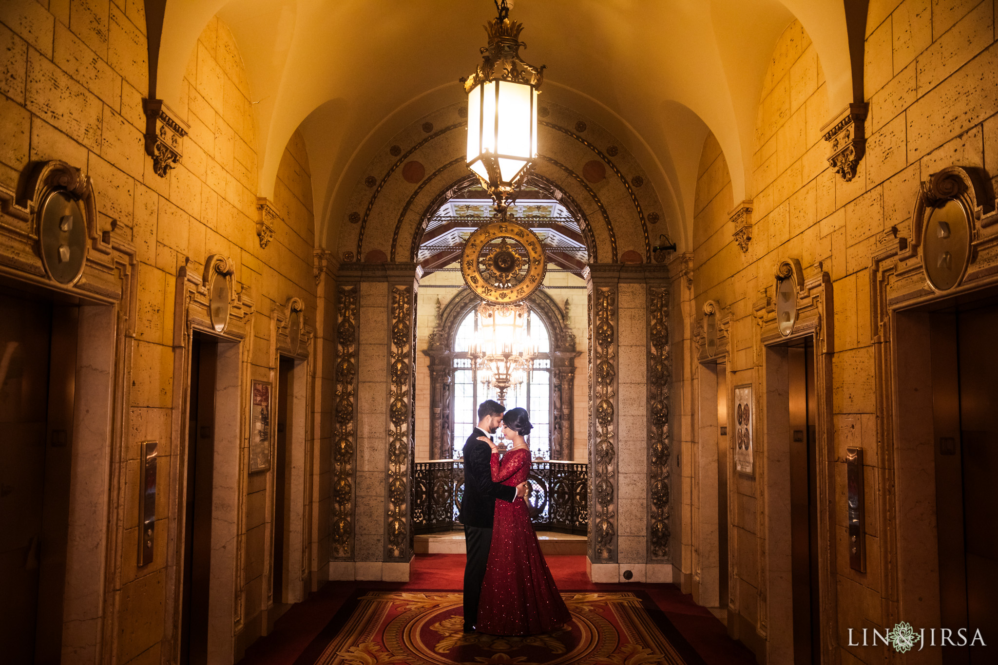 38 Millennium Biltmore Hotel Los Angeles Indian Wedding Reception Photography