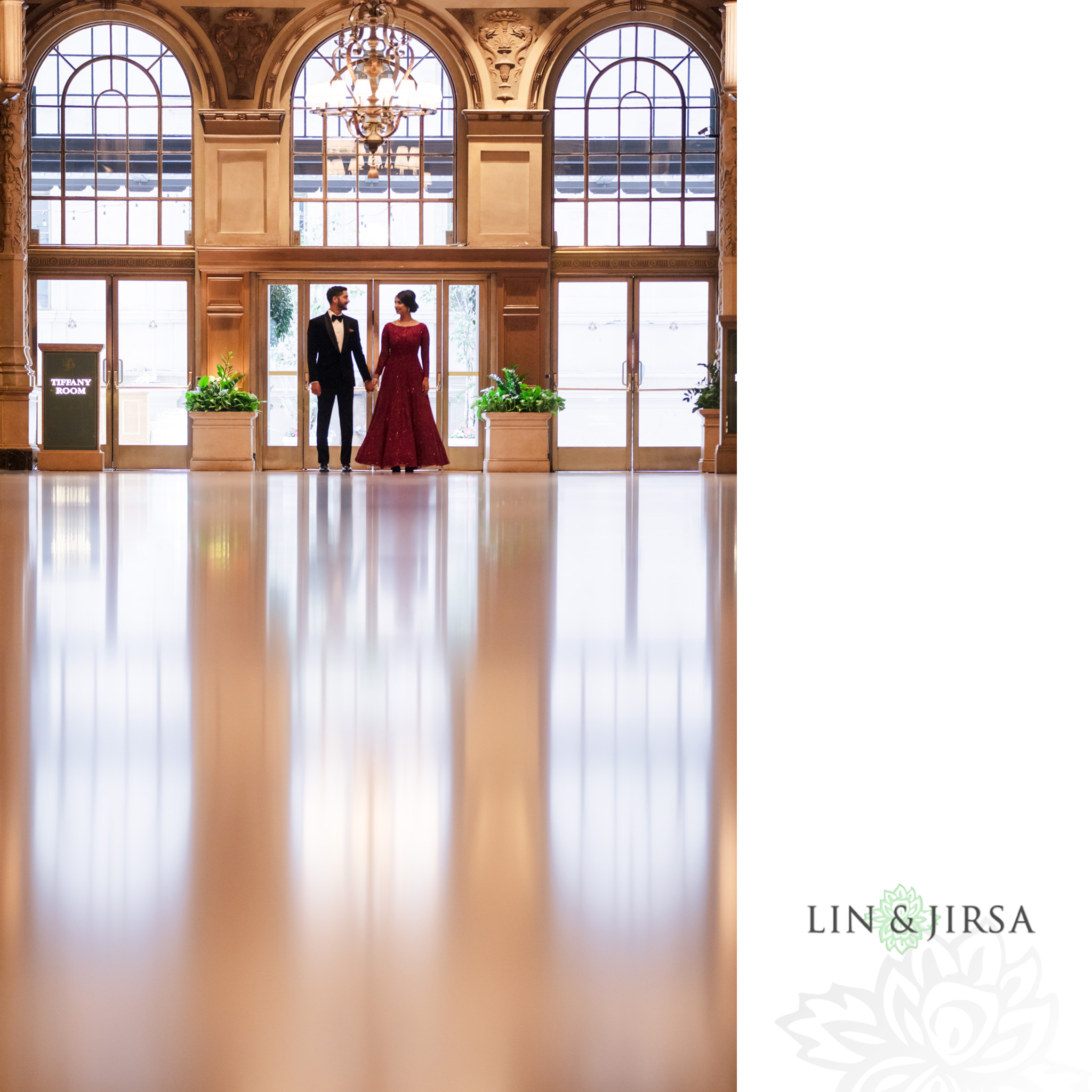 39 Millennium Biltmore Hotel Los Angeles Indian Wedding Reception Photography