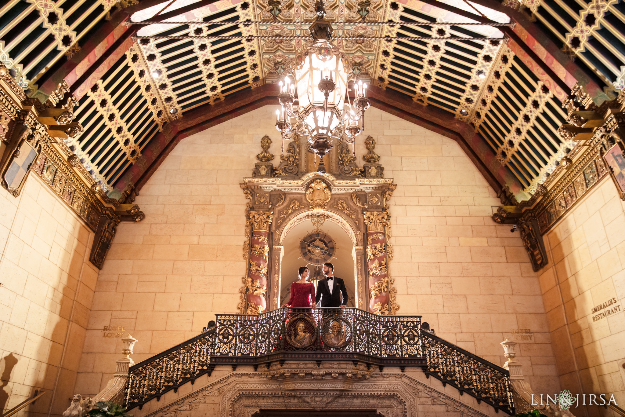 40 Millennium Biltmore Hotel Los Angeles Indian Wedding Reception Photography