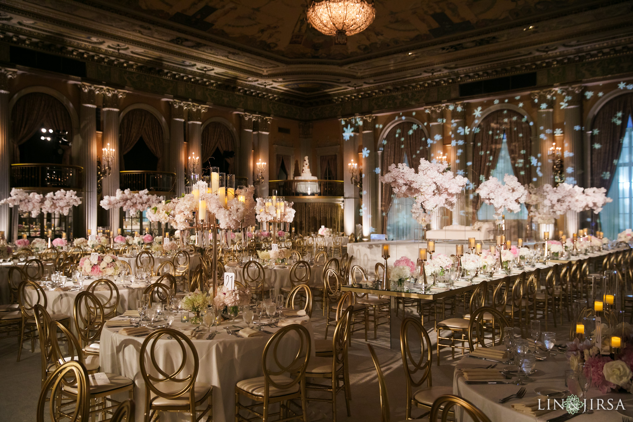 42 Millennium Biltmore Hotel Los Angeles Indian Wedding Reception Photography