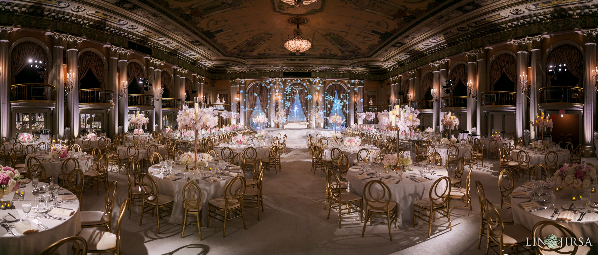 47 Millennium Biltmore Hotel Los Angeles Indian Wedding Reception Photography