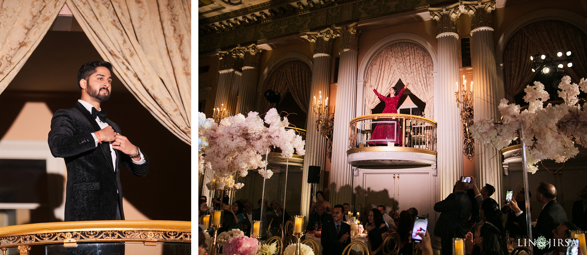 51 Millennium Biltmore Hotel Los Angeles Indian Wedding Reception Photography