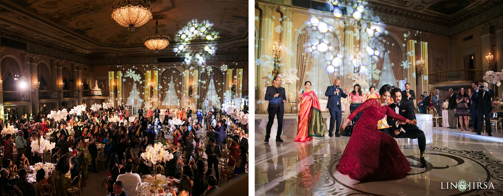 52 Millennium Biltmore Hotel Los Angeles Indian Wedding Reception Photography