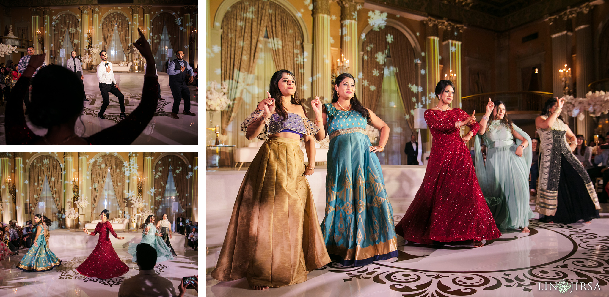 57 Millennium Biltmore Hotel Los Angeles Indian Wedding Reception Photography
