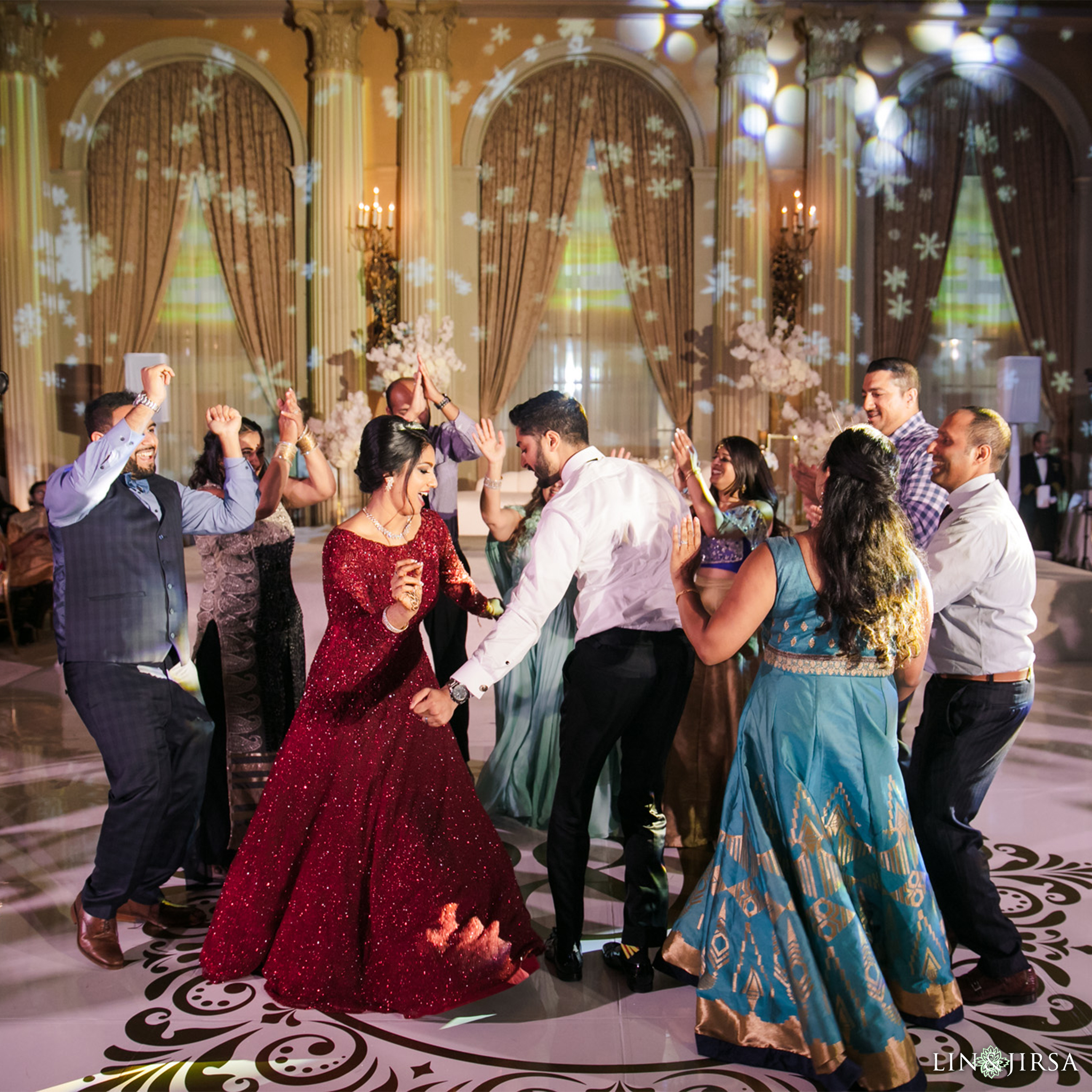 58 Millennium Biltmore Hotel Los Angeles Indian Wedding Reception Photography