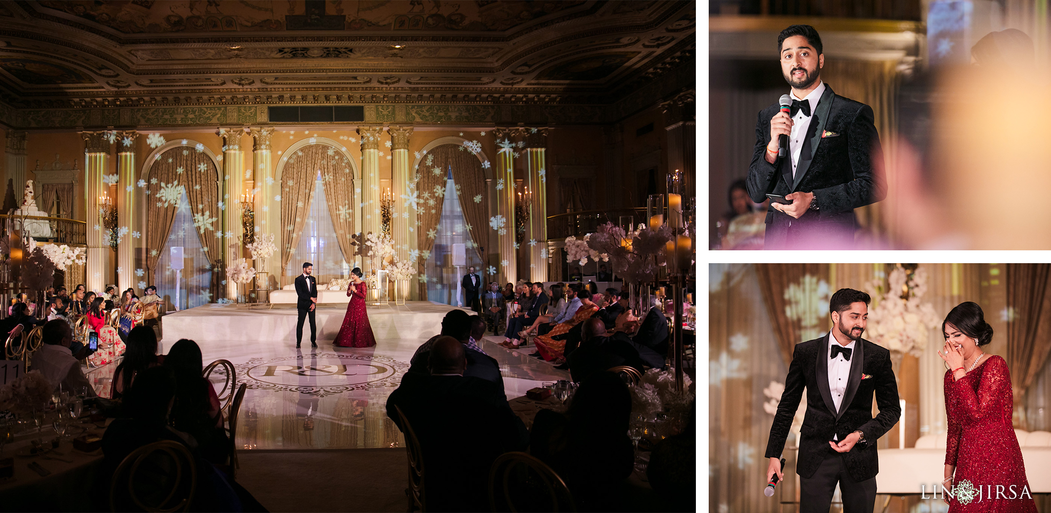 59 Millennium Biltmore Hotel Los Angeles Indian Wedding Reception Photography