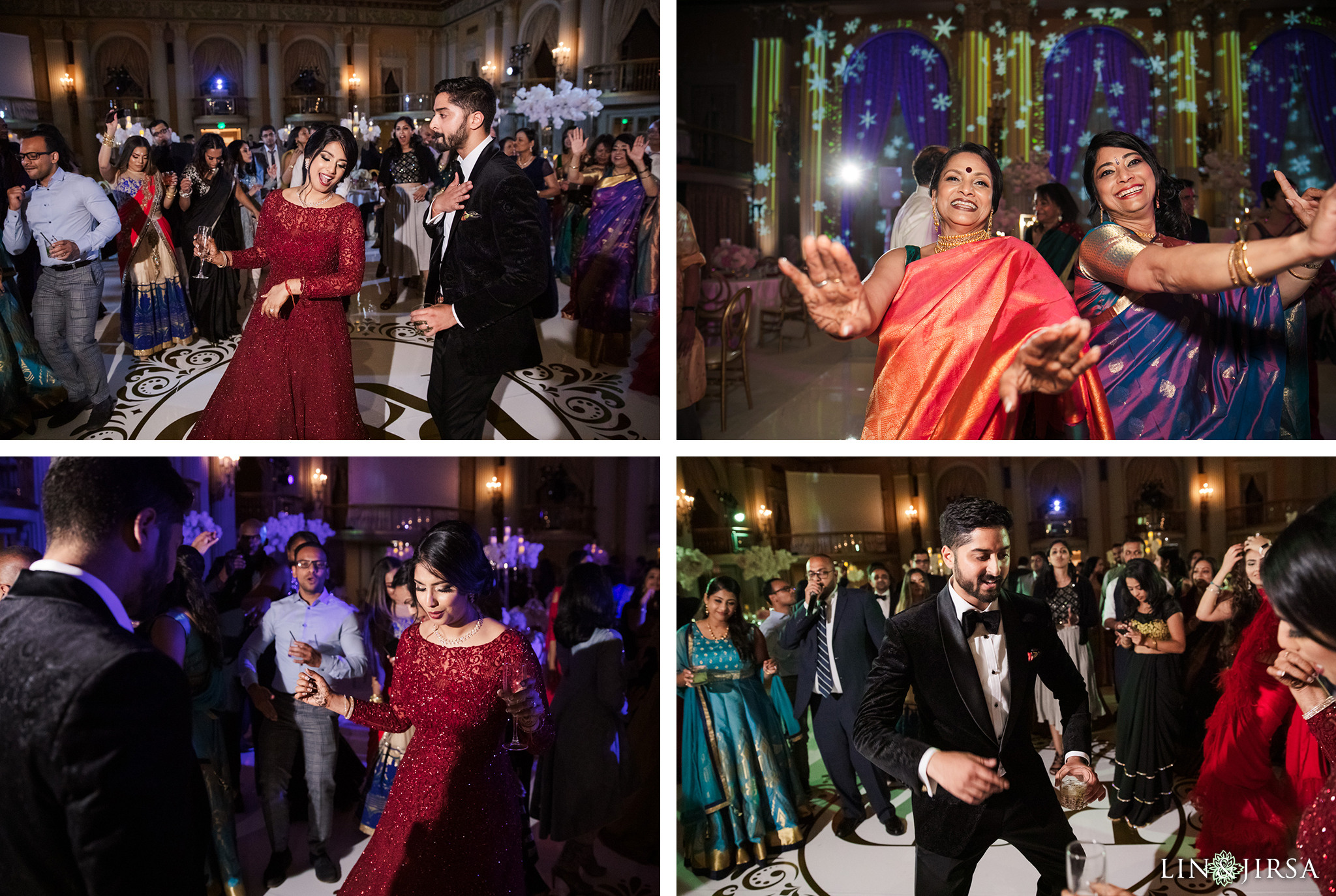60 Millennium Biltmore Hotel Los Angeles Indian Wedding Reception Photography