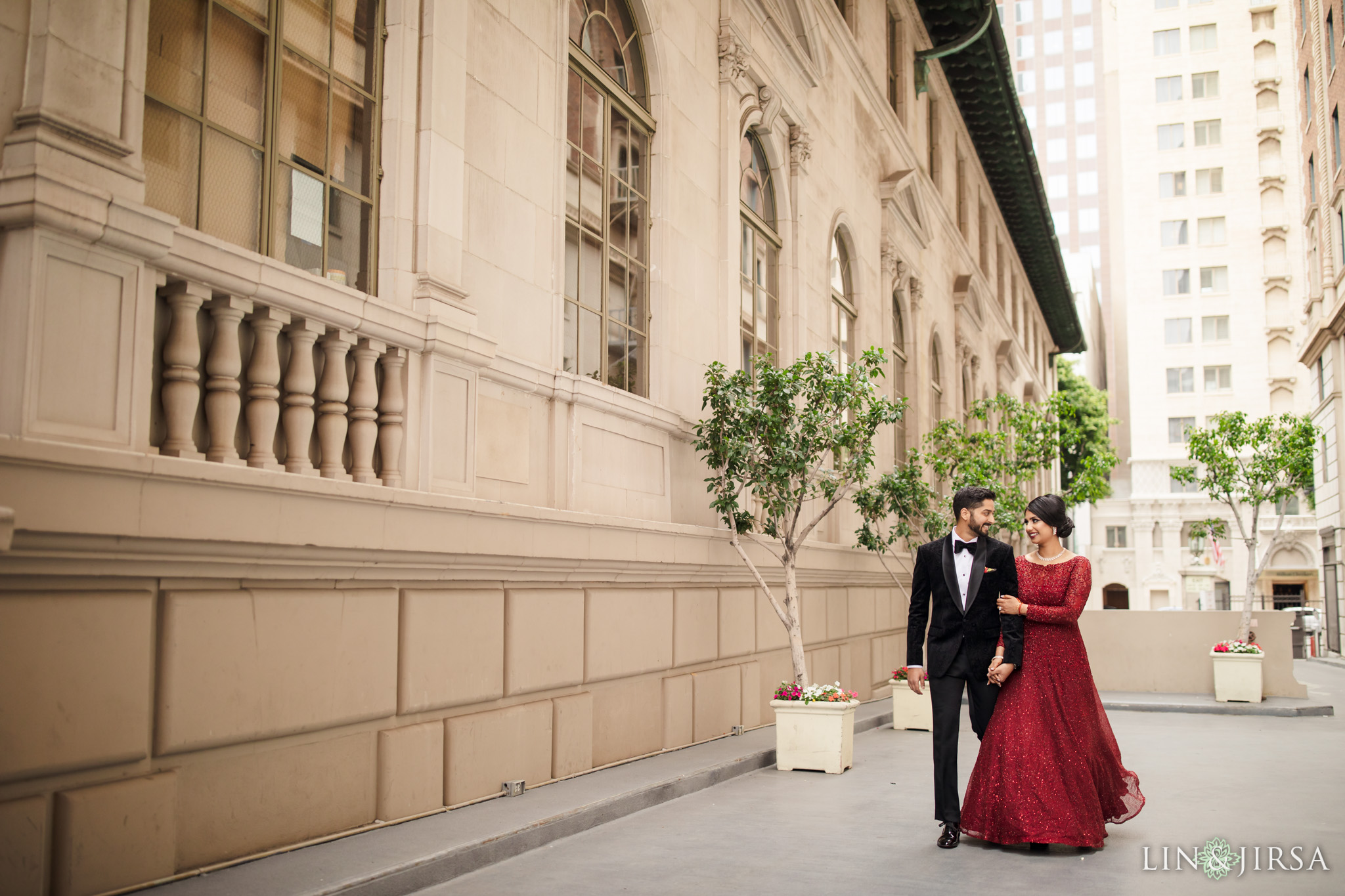 zpj Millennium Biltmore Hotel Los Angeles Indian Wedding Reception Photography