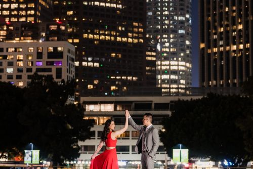 00 Downtown Los Angeles City Lights Engagement Photography
