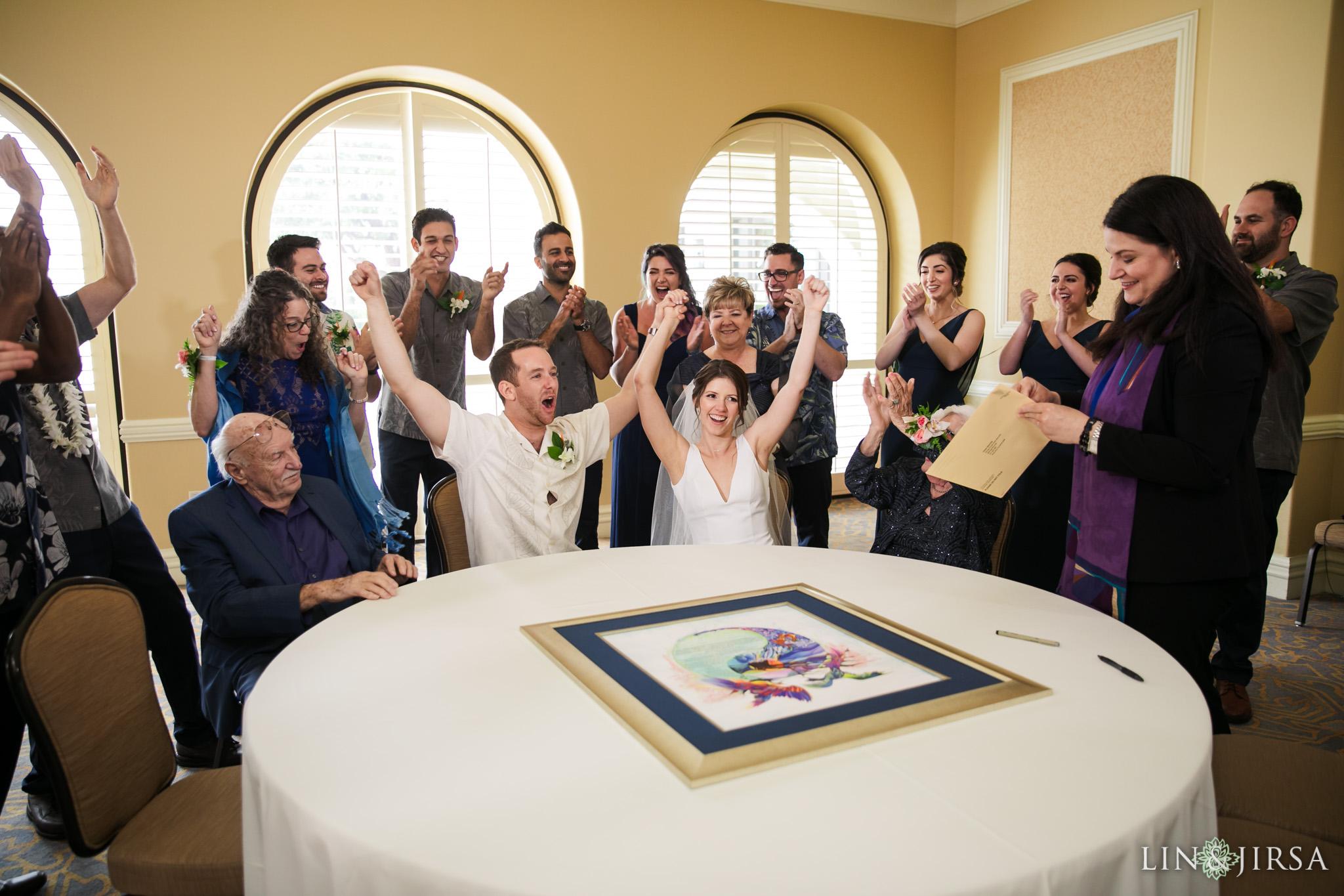29 Hyatt Regency Huntington Beach Jewish Wedding Ketubah Photography