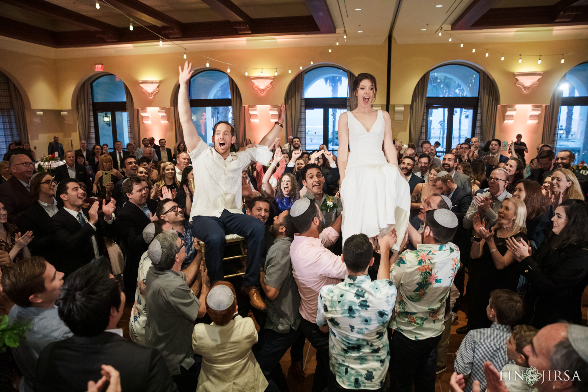 42 Hyatt Regency Huntington Beach Jewish Wedding Reception Photography